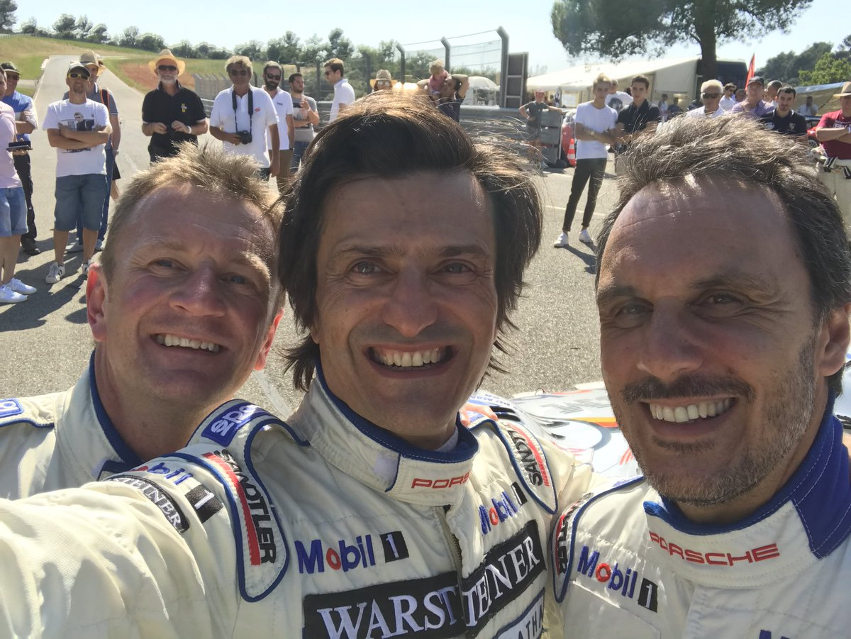 And with these old boys.....and the remake of our '98 podium selfie #3amigos #sparkfestival #grandsambuc #aiellomcnishortelli #1998 #GT1