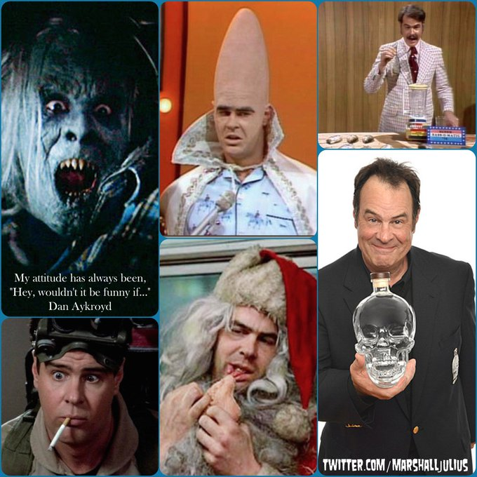 Happy 66th birthday to comedian, actor, screenwriter, musician, UFOlogist and purveyor of fine spirits, Dan Aykroyd!