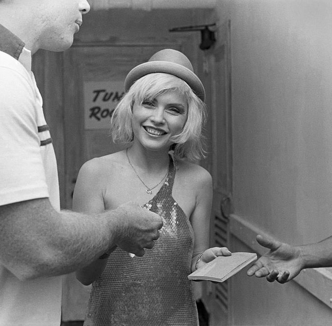 Happy birthday to Debbie Harry - here she is giving me her phone number x