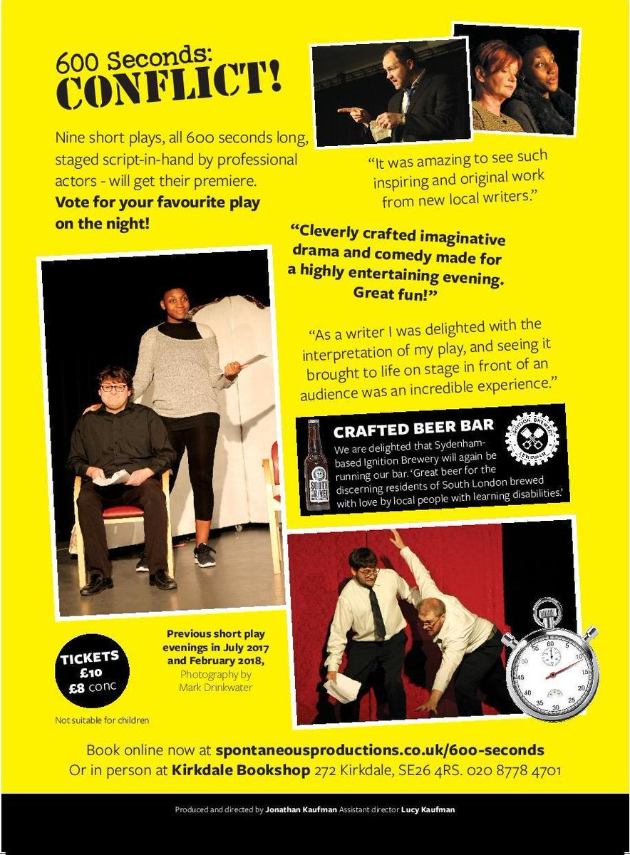 Spontaneous Productions Theatre Company On Twitter Now Booking