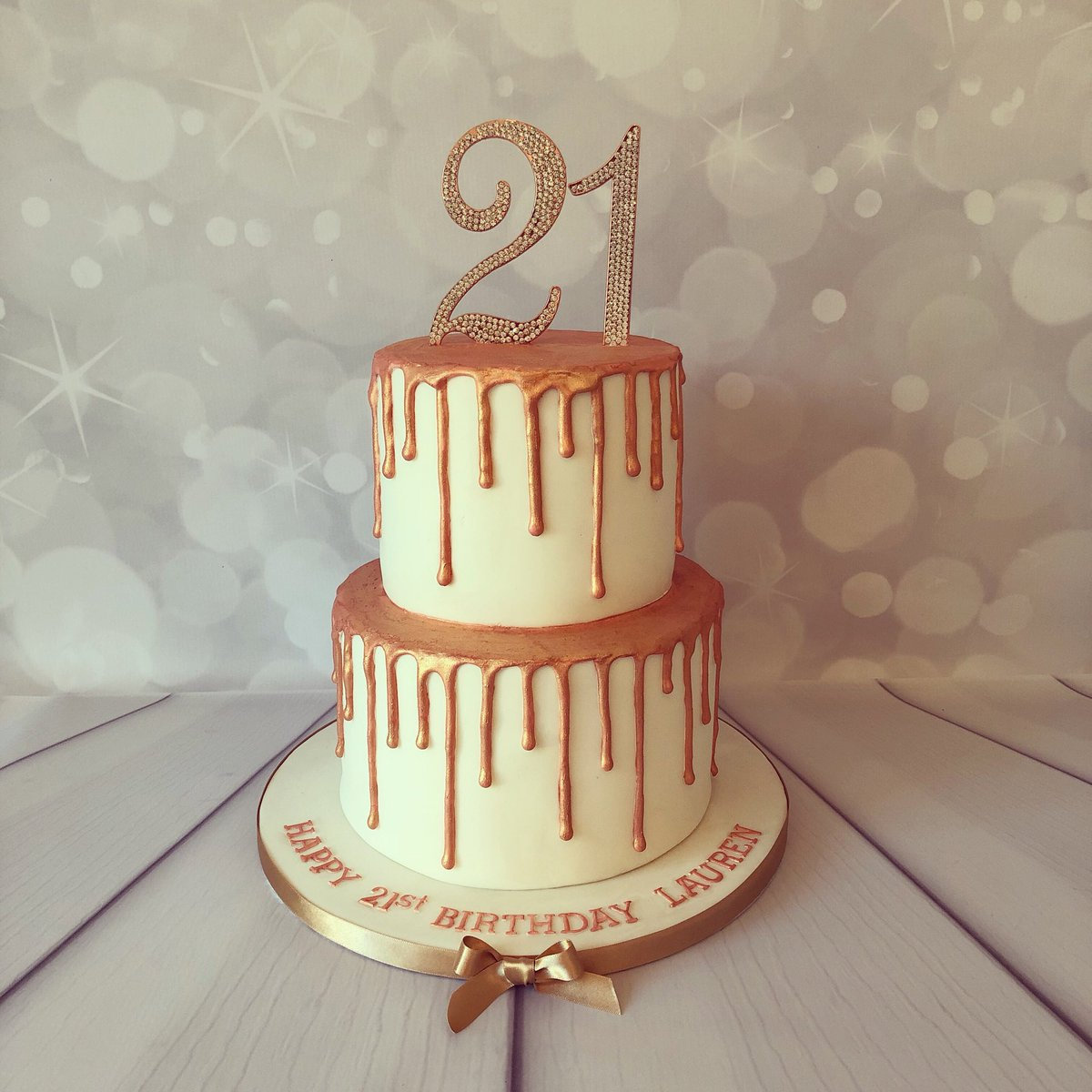 Sensational 21St Birthday Cakes Rose Gold Top Birthday Cake Pictures Photos Personalised Birthday Cards Veneteletsinfo