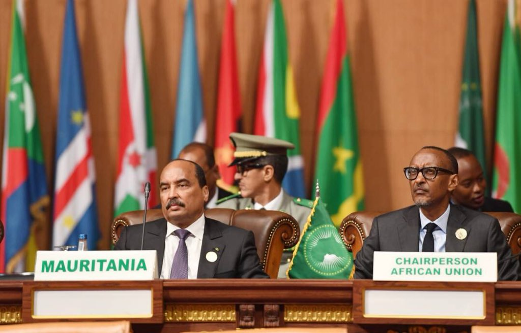 President Kagame is now chairing the 31st #AUSummit of Heads of State and Government.