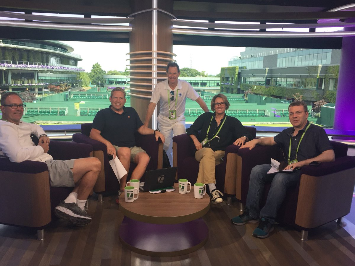 We have successfully hearsed (just once). @jon_wertheim @paul_annacone @solo_ken @TennisChannel @Wimbledon