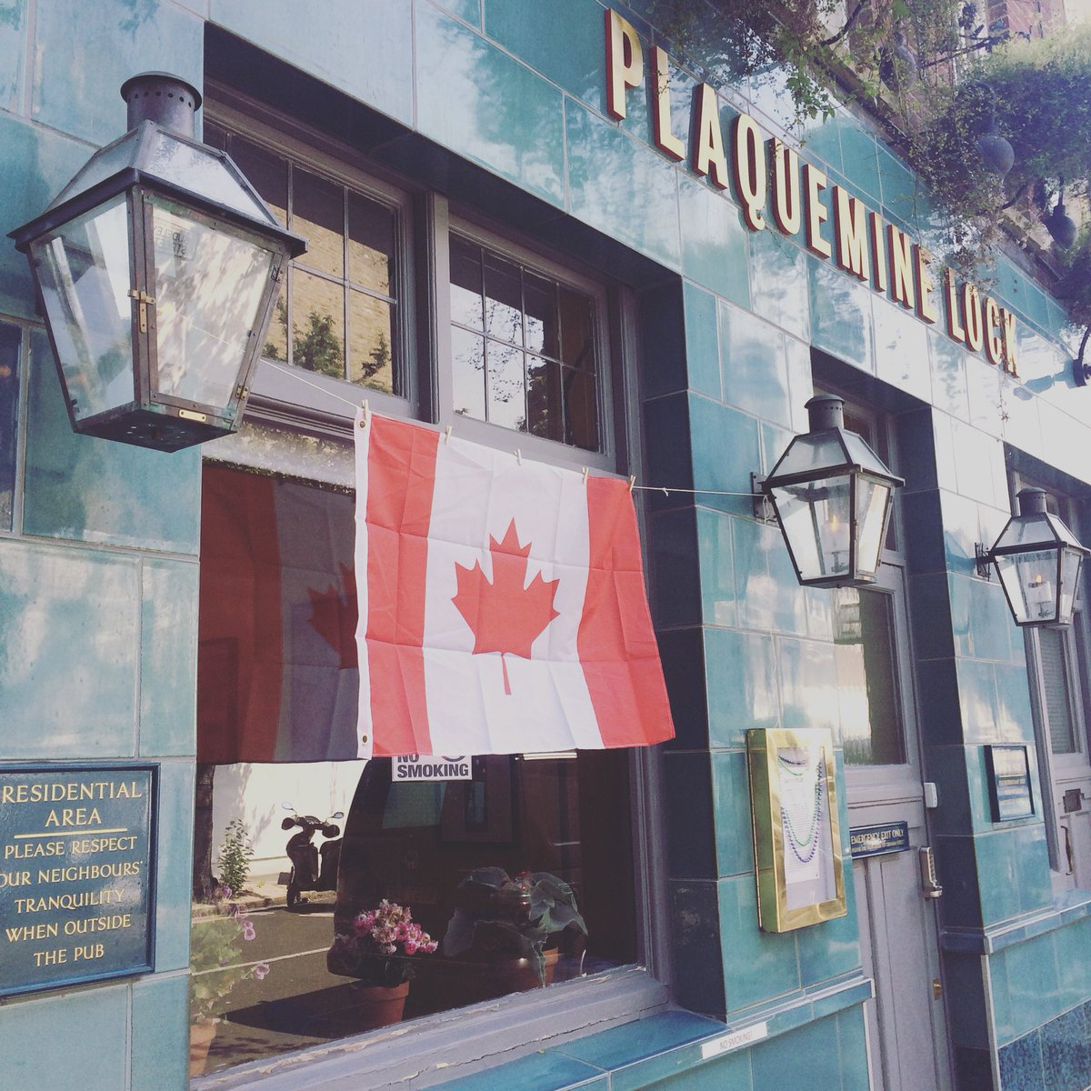 Happy Canada Day! Here's to kindness, tolerance and knowing when to stand your ground! #ohcanada #plaqueminelock #neighbours