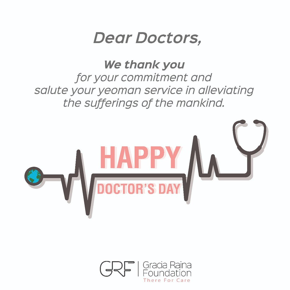 This #DoctorsDay, #GRF thanks and salutes all the doctors for their tireless services and big support to us! #HappyDoctorsDay