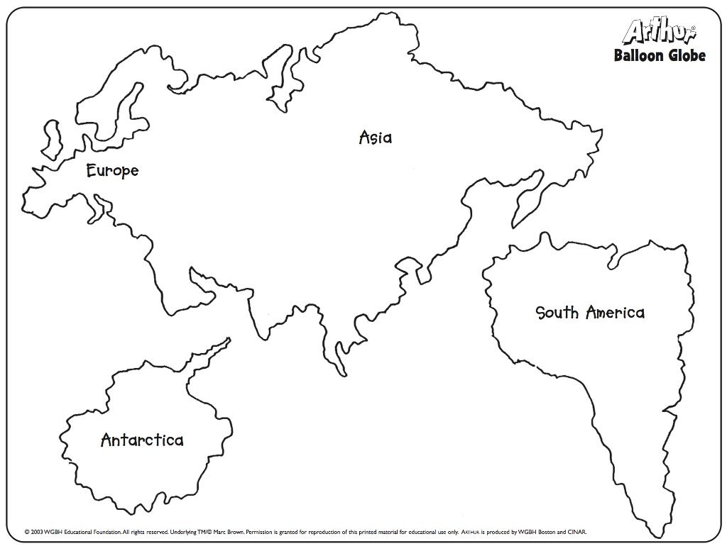 Current image with regard to printable continents to cut out