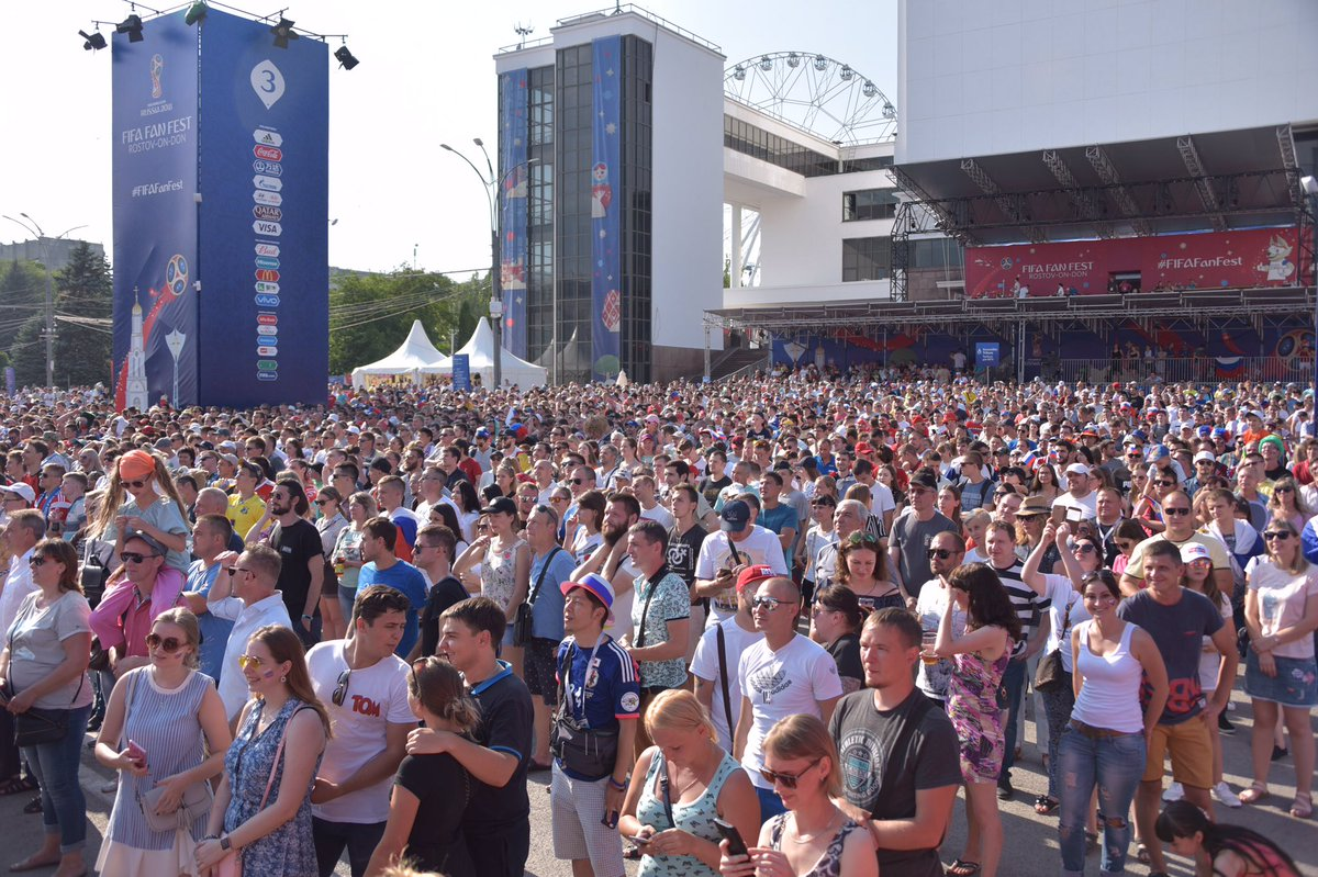 Justin On Twitter It May Be A Small City Of Some 1 Million But Thousands Rostov Don Residents Are Out In Full Force At Their Local Fifa Fan Fest