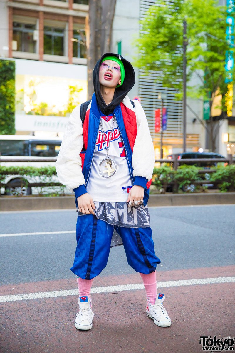 126f82533b1363 21 year old japanese graphic designer tkm freedom on the street in harajuku  wearing a vintage