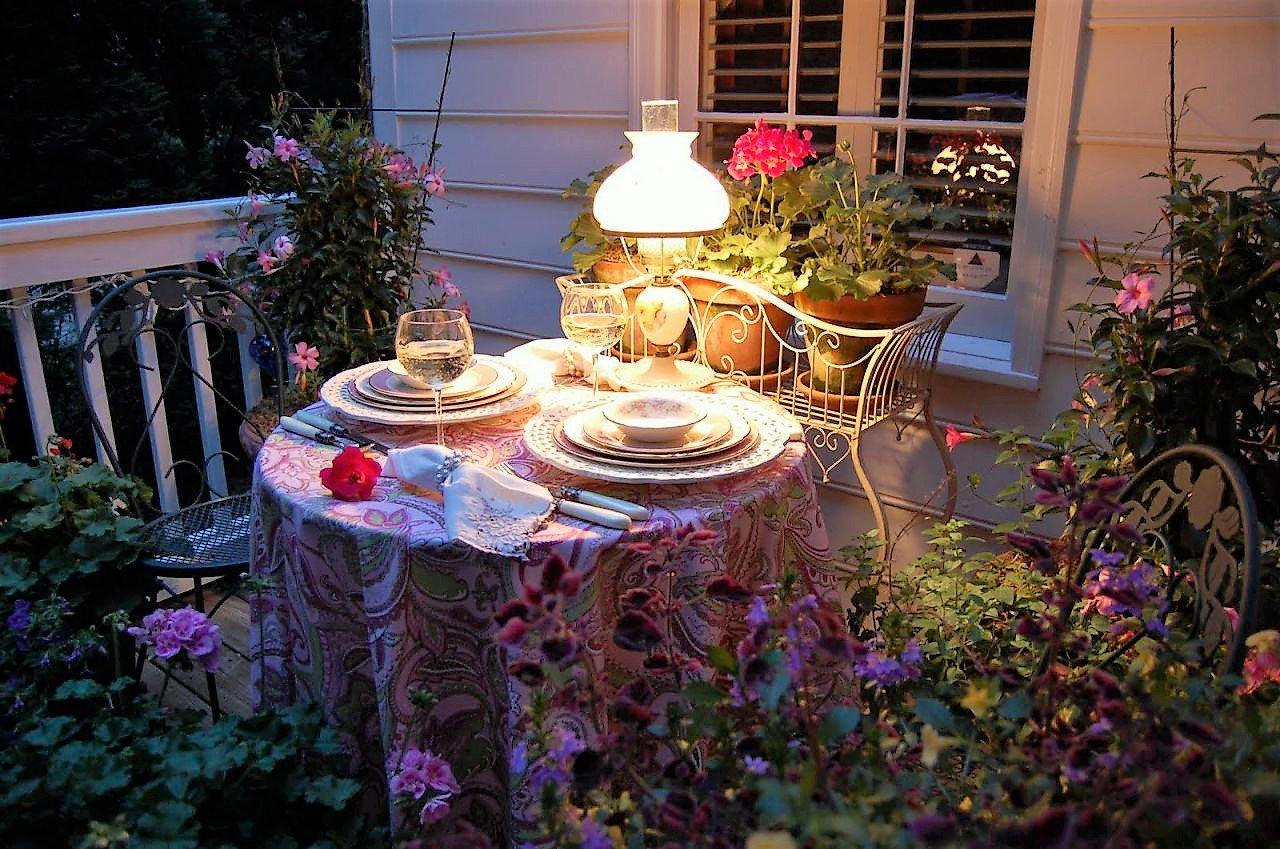 Года, картинки летний вечер в саду