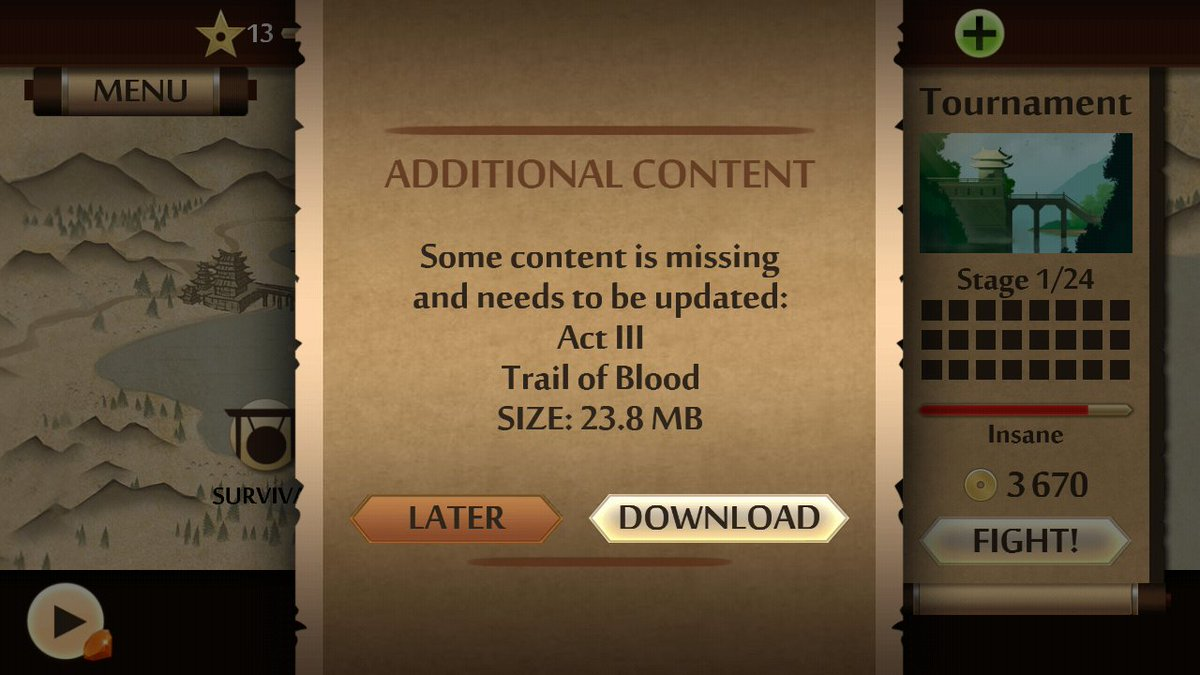 shadow fight 2 act 3 trail of blood data download