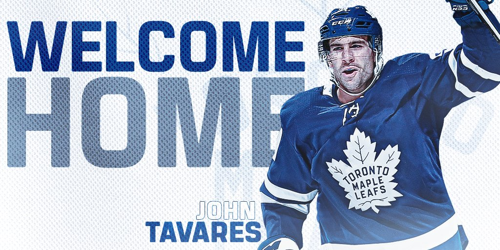 Welcome home, @91Tavares. https://t.co/14Weo1ANlS