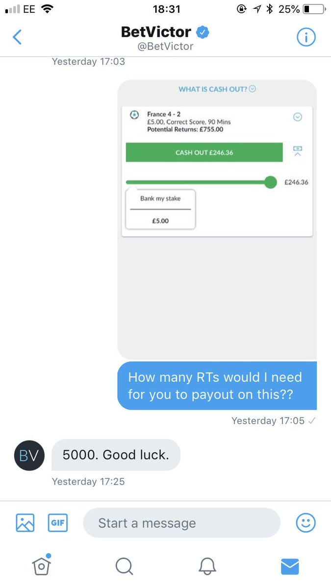 @BetVictor have promised to pay me out if I get 5000 RTs!!! #France #Argentina #WorldCup2018