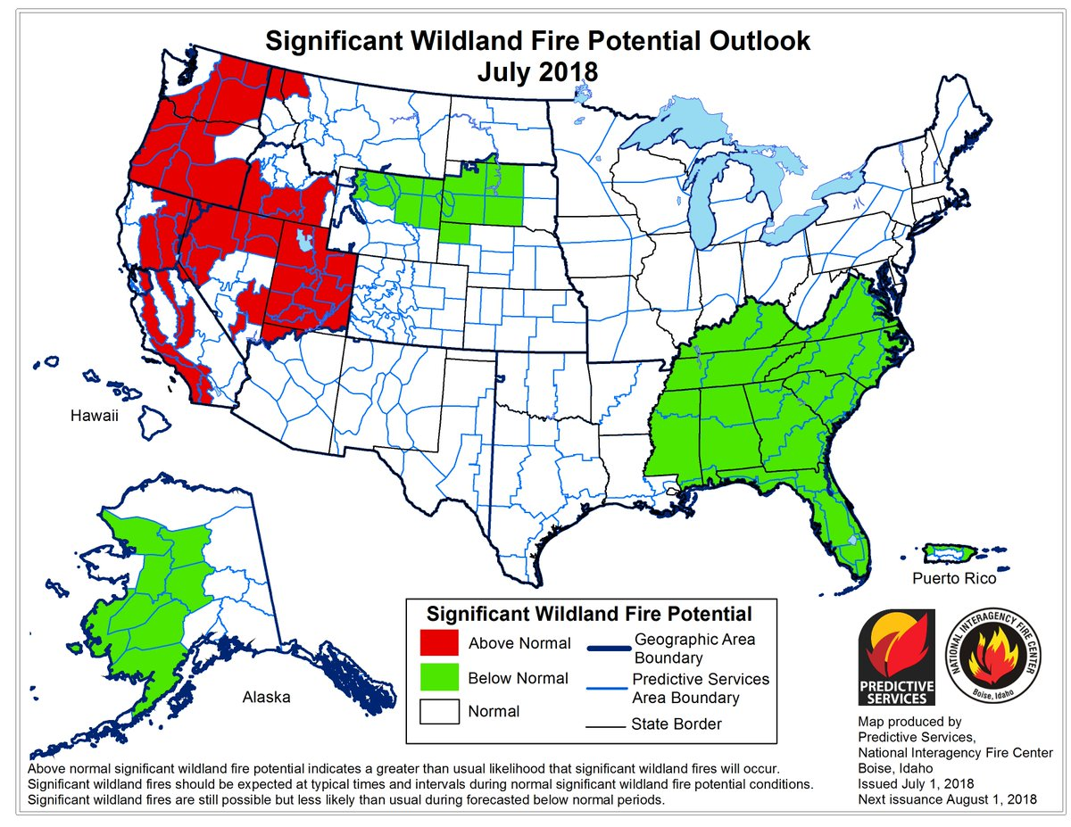 Nws Spokane On Twitter Above Avg Fire Potential Predicted For The