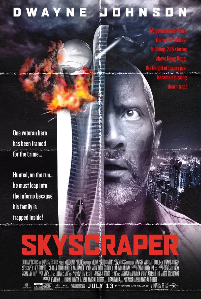 Resultado de imagem para dwayne johnson skyscraper die hard poster