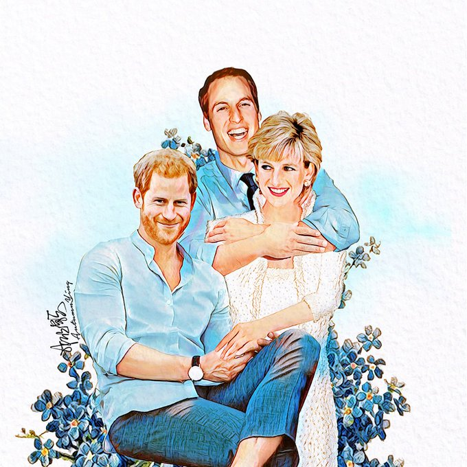 Happy birthday Princess Diana  Art by autumn.ying