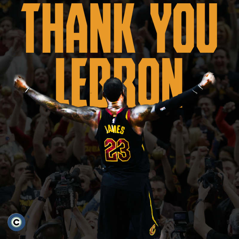 Through it all, we can only say one thing, LeBron: thank you.