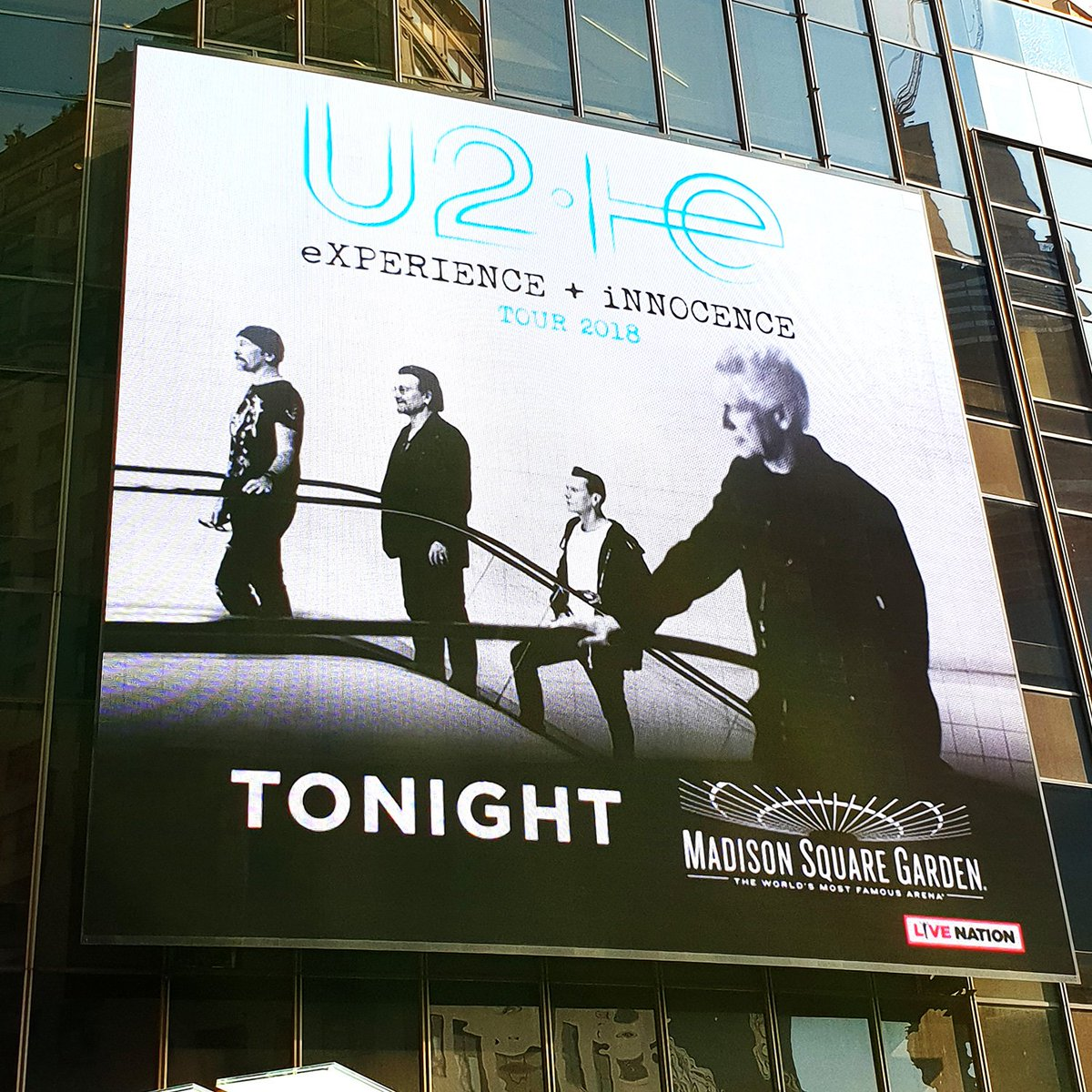 share and follow the feed here httpswwwu2comtourdateid45561535 pictwittercomyhalc8mhlt - U2 At Madison Square Garden