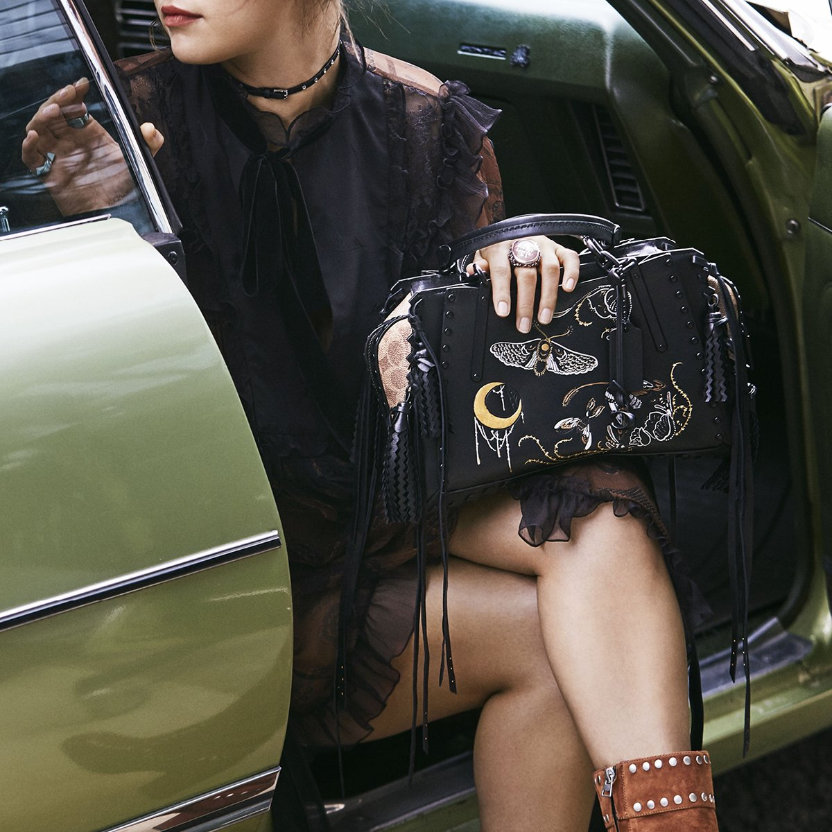 Look who's pulling up for fall... #CoachxSelena #CoachFW18 #CoachNY