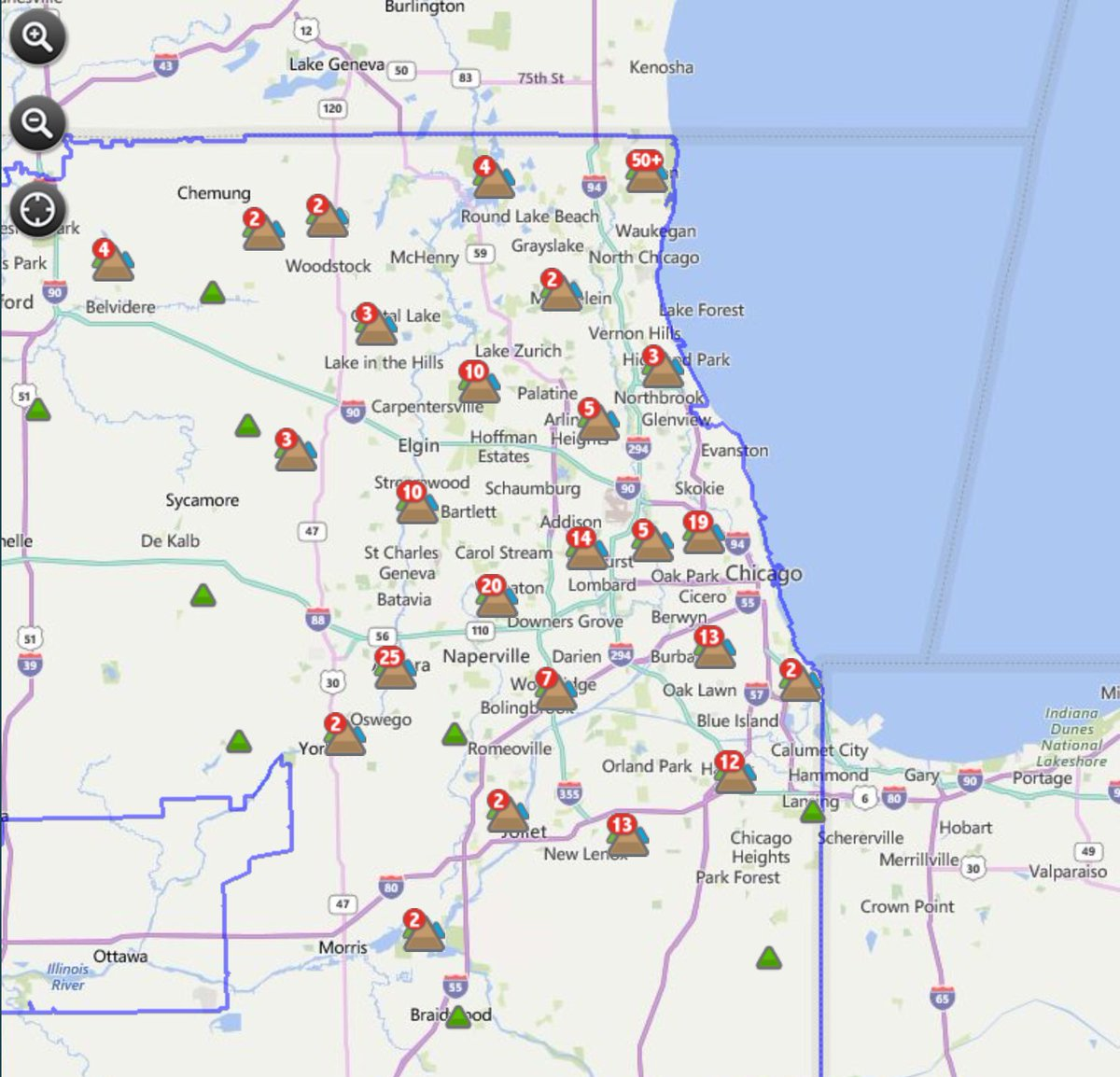 Comed Outages Illinois Map Www Topsimages Com