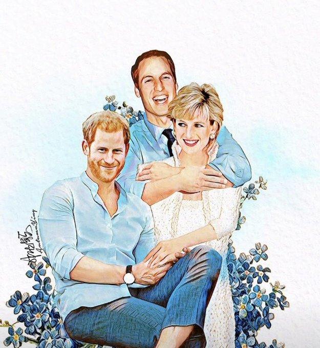 Happy birthday Princess Diana :\)  Art by autumn.ying