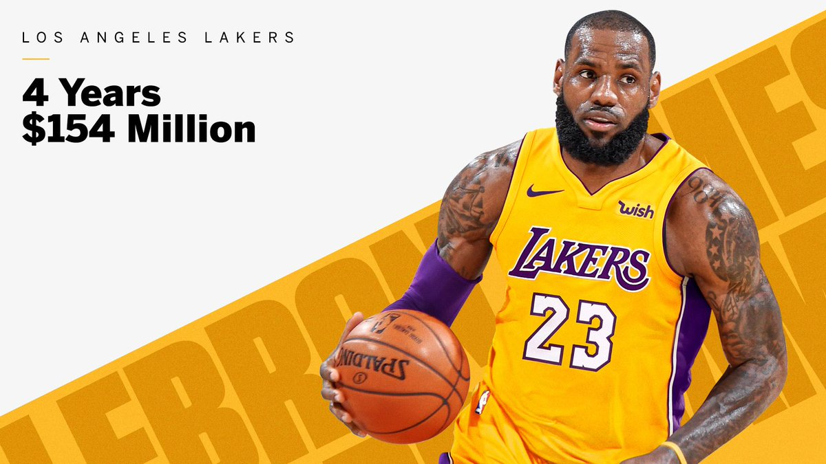 4 years $154M  LA-Bron is happening, Klutch Sports says. https://t.co/MLxUrzW4jp