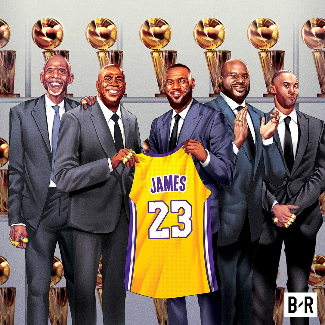 Laker legends welcome LeBron to the franchise.