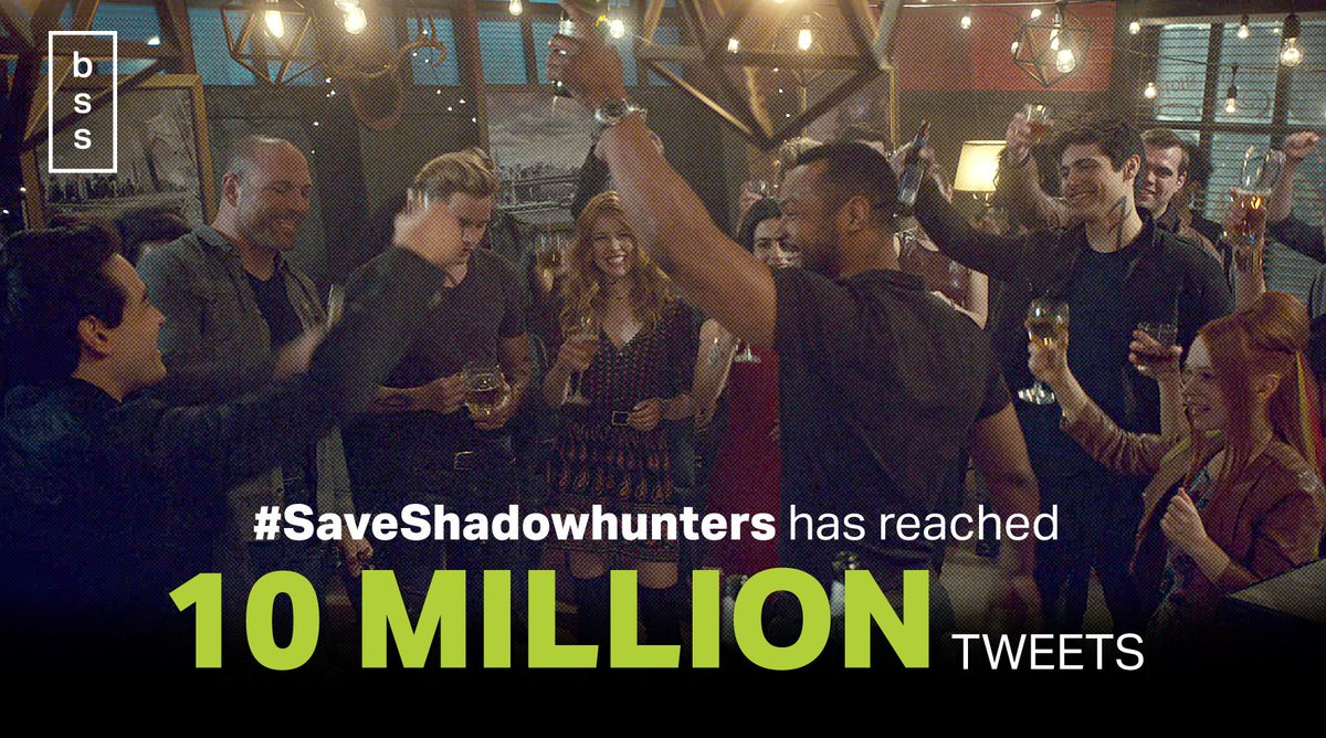 #SaveShadowhunters just reached 🎉 10 MILLION TWEETS 🎉!!!  WE DID THIS! TOGETHER!!! 👏👏👏