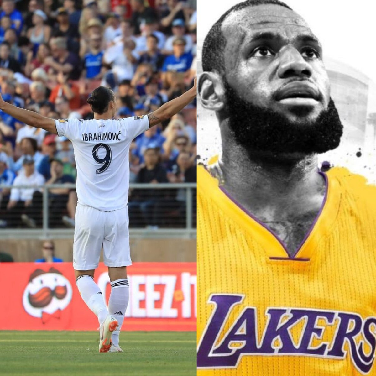 Zlatan Ibrahimović  Now LA has a God and a King!Zlatan welcomes @KingJames