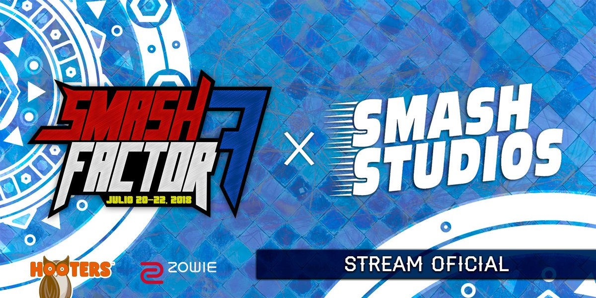¡Really happy to announce that this year we'll be partnering with the amazing team of @SmashStudiosGG to deliver the best of Latin America gameplay to the world!  Watch Smash Factor from July 20th to 22 on:  http://twitch.tv/smashstudios    http://twitch.tv/smashfactorgaming …