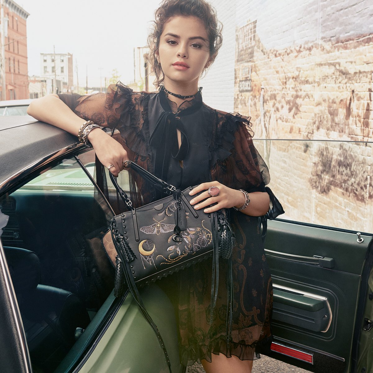 Introducing #SelenaGomez, with our new Dreamer bag, photographed by #StevenMeisel for the #CoachFW18 campaign. #CoachxSelena #CoachNY