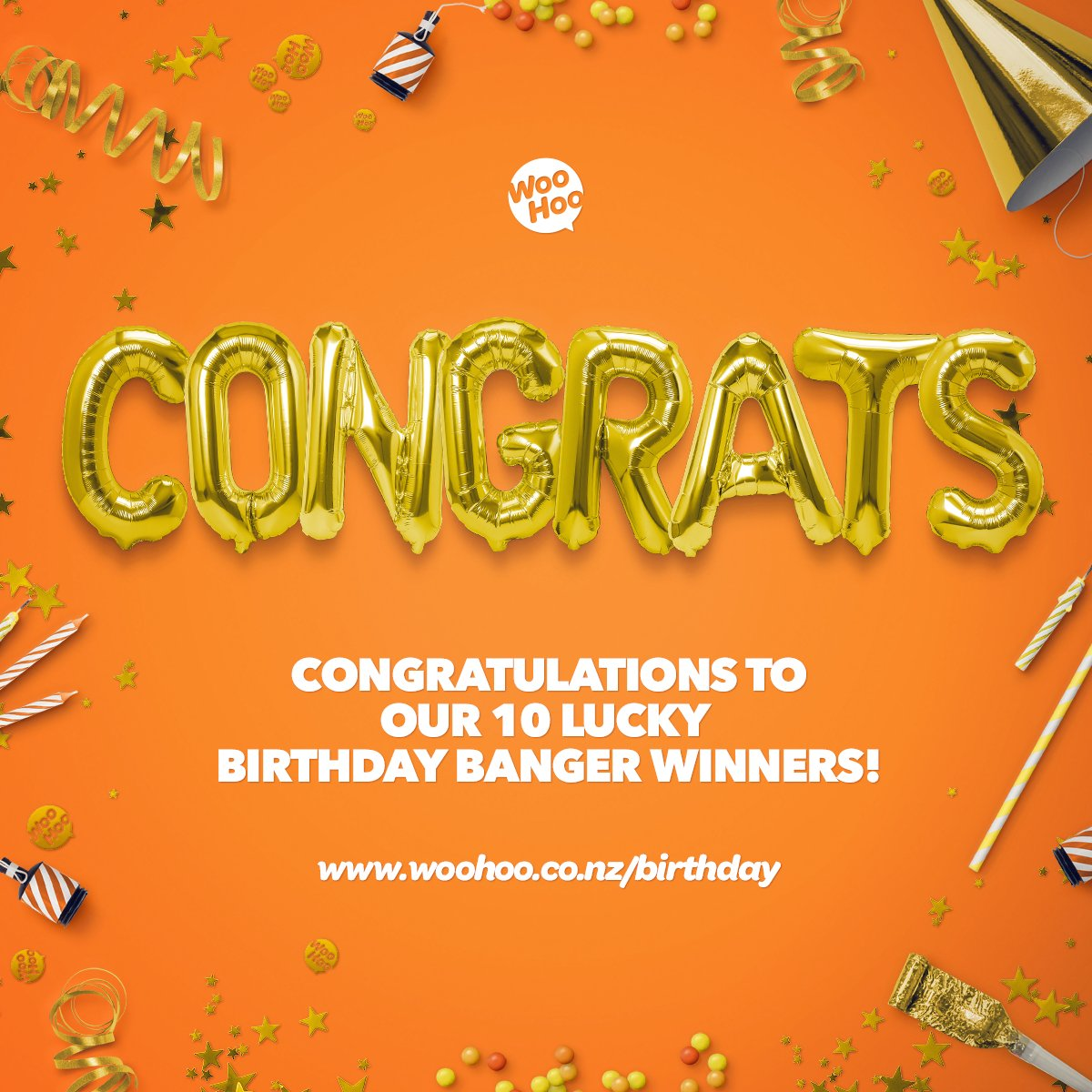 Our 10th Birthday Banger has finally come to a close and now we're in the double-digits. Thanks for celebrating with us. We've given away over $10,000 in presents and been in touch with all of our winners, who are pretty stoked. WooHoo!  #WooHoo #ShowMeTheMoney #BirthdayBanger