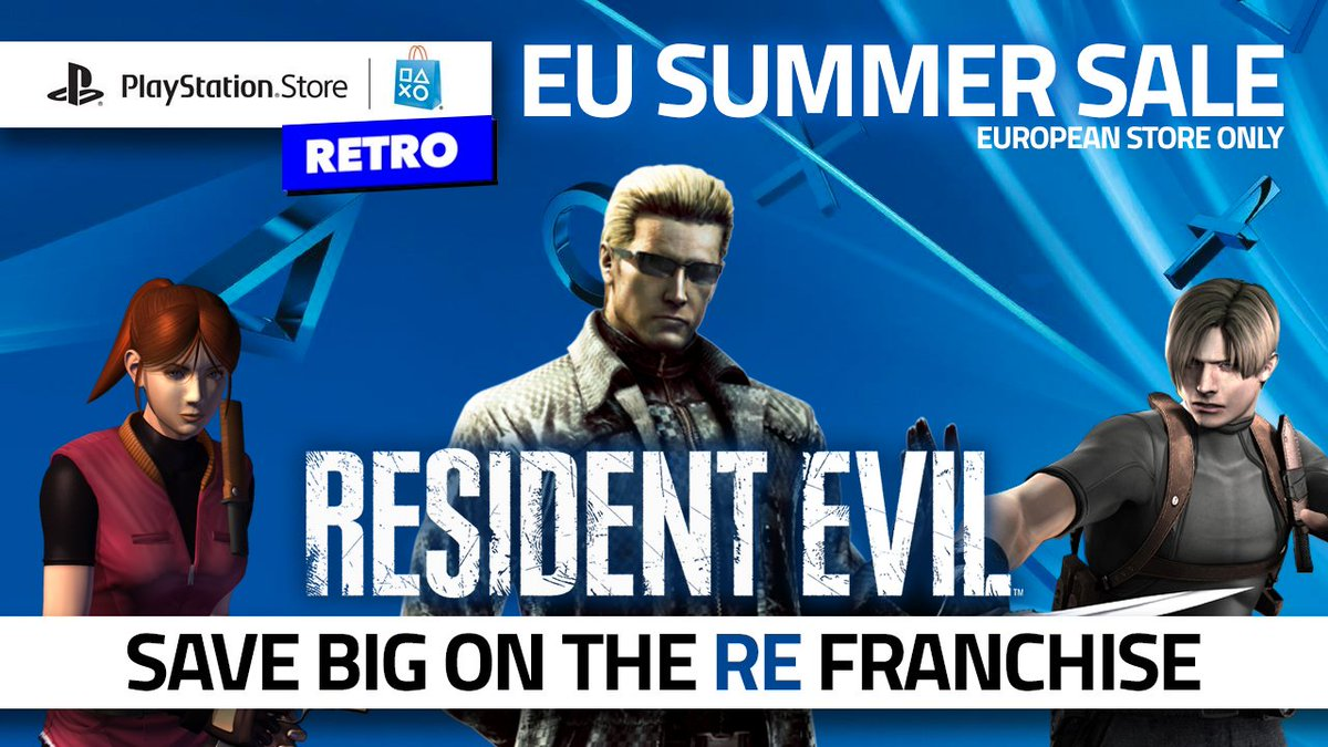 [EU only] Got some rare things on sale, stranger! Save 💰 on the #ResidentEvil franchise in the #Playstation sales! Best way to cure the Monday blues! bit.ly/2tL0BLK