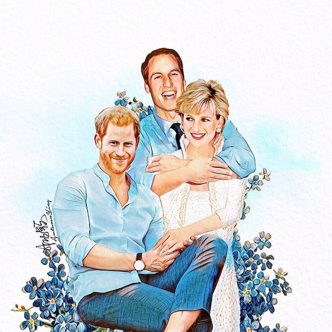 Happy birthday Princess Diana  Art by ,