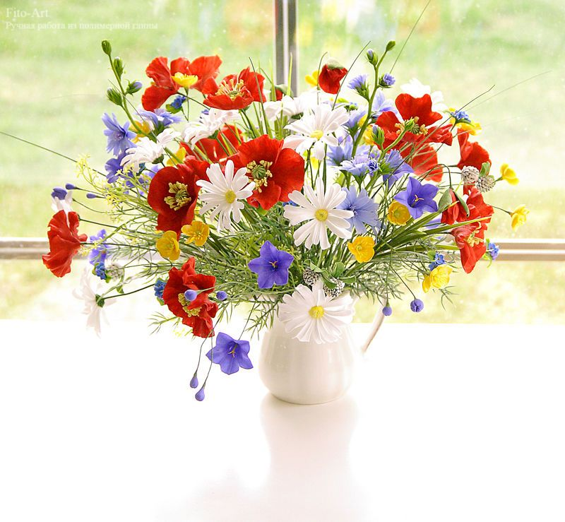 Открытки с днем рождения с цветами полевыми
