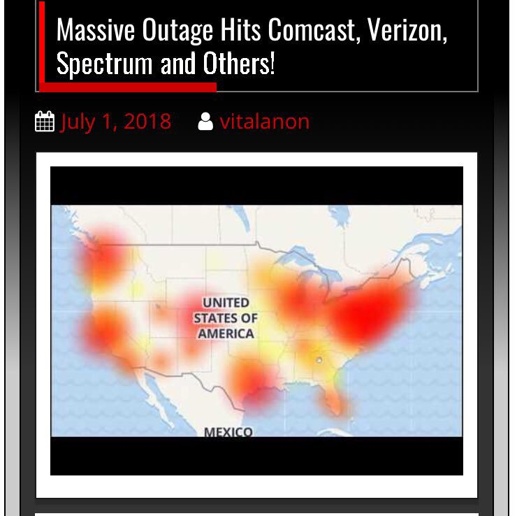 Internet outages & Speed issues across America