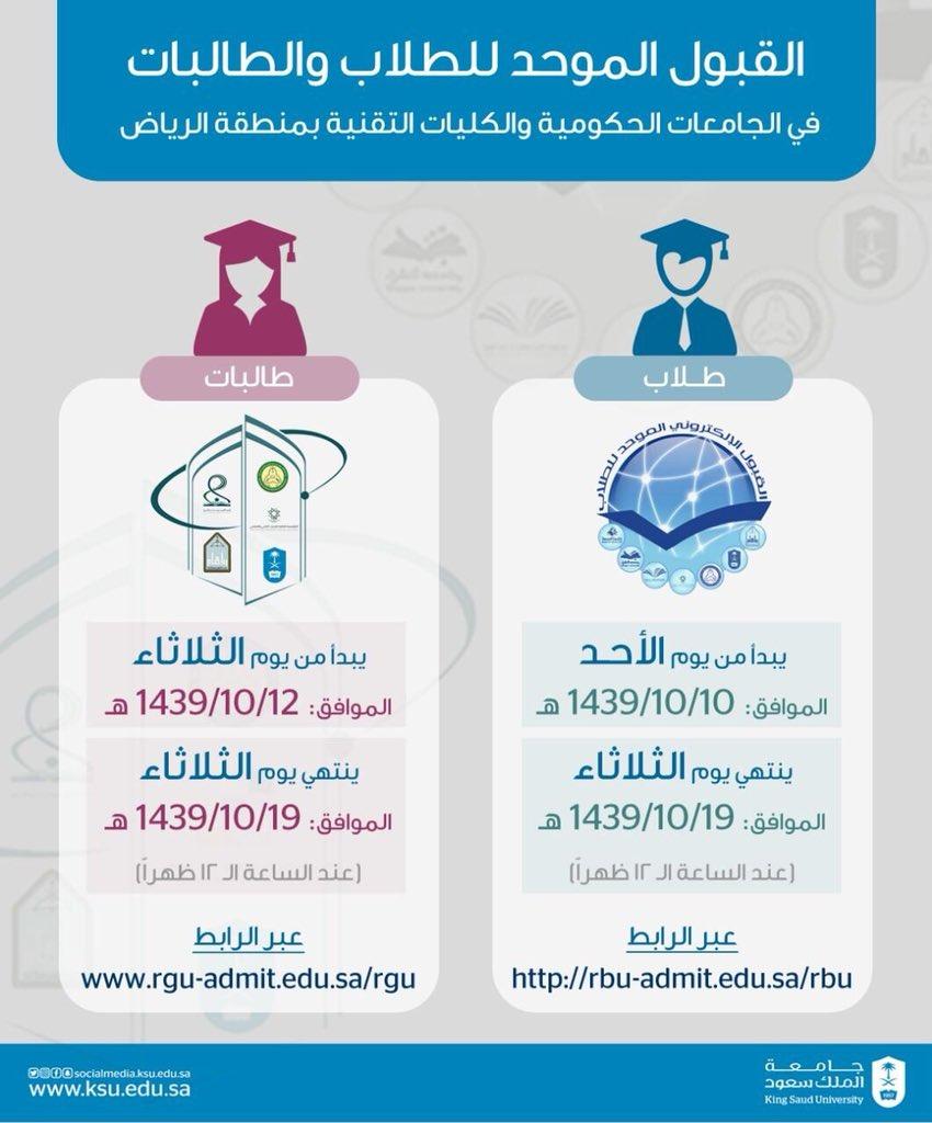 جامعة الملك سعود Na Twitterze القبول في الجامعة حسب النسبة المركبة وللمزيد من المعلومات حول استفسارك يرجى الاتصال بقسم القبول Https T Co Ayzleiitwv