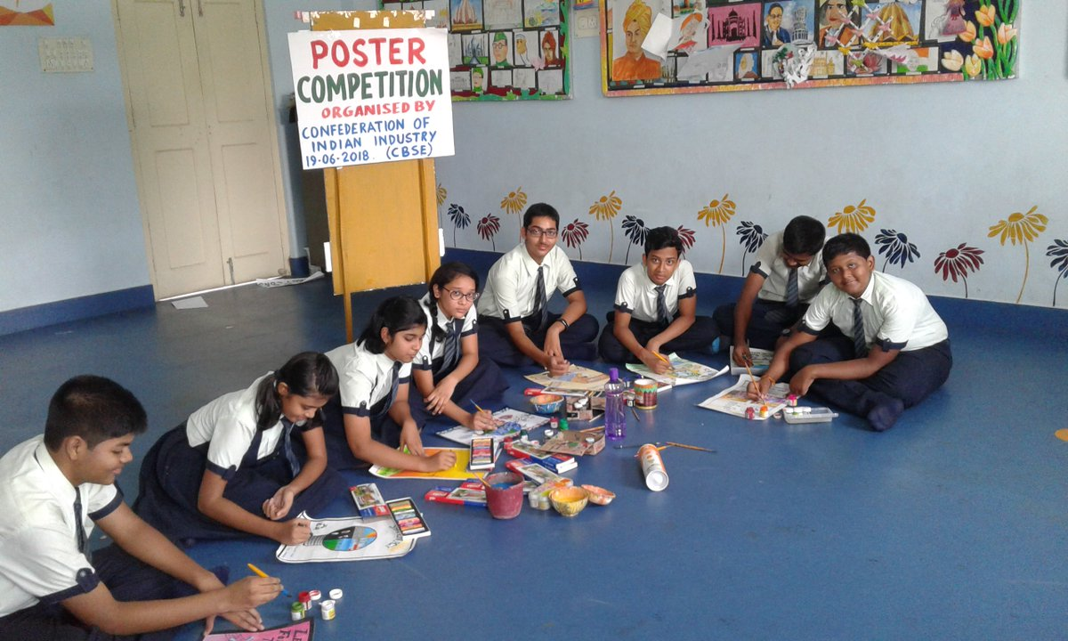 zee school contai organised a poster making competition on the topic energy conservation to inculcate in children the habit of energy conservation