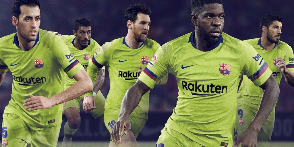 Le Barça dévoile son maillot extérieur 2018/19