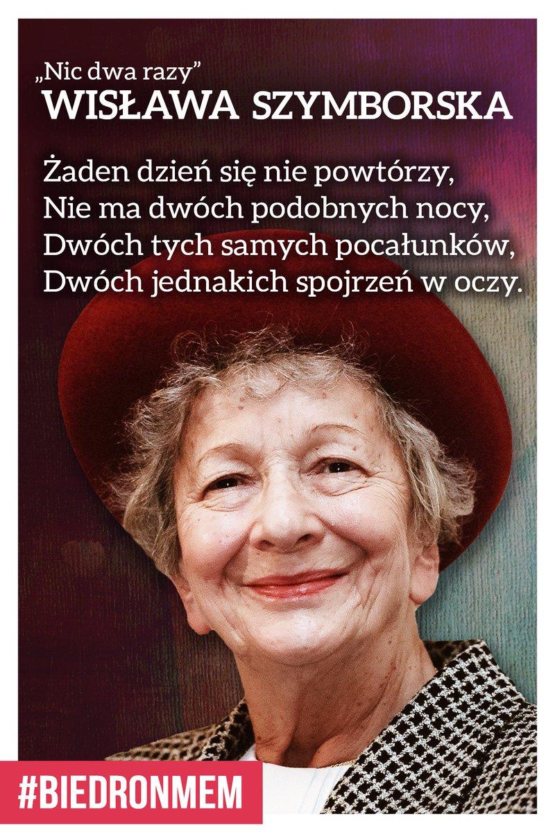 Robert Biedroń On Twitter Dziś Wisława Szymborska