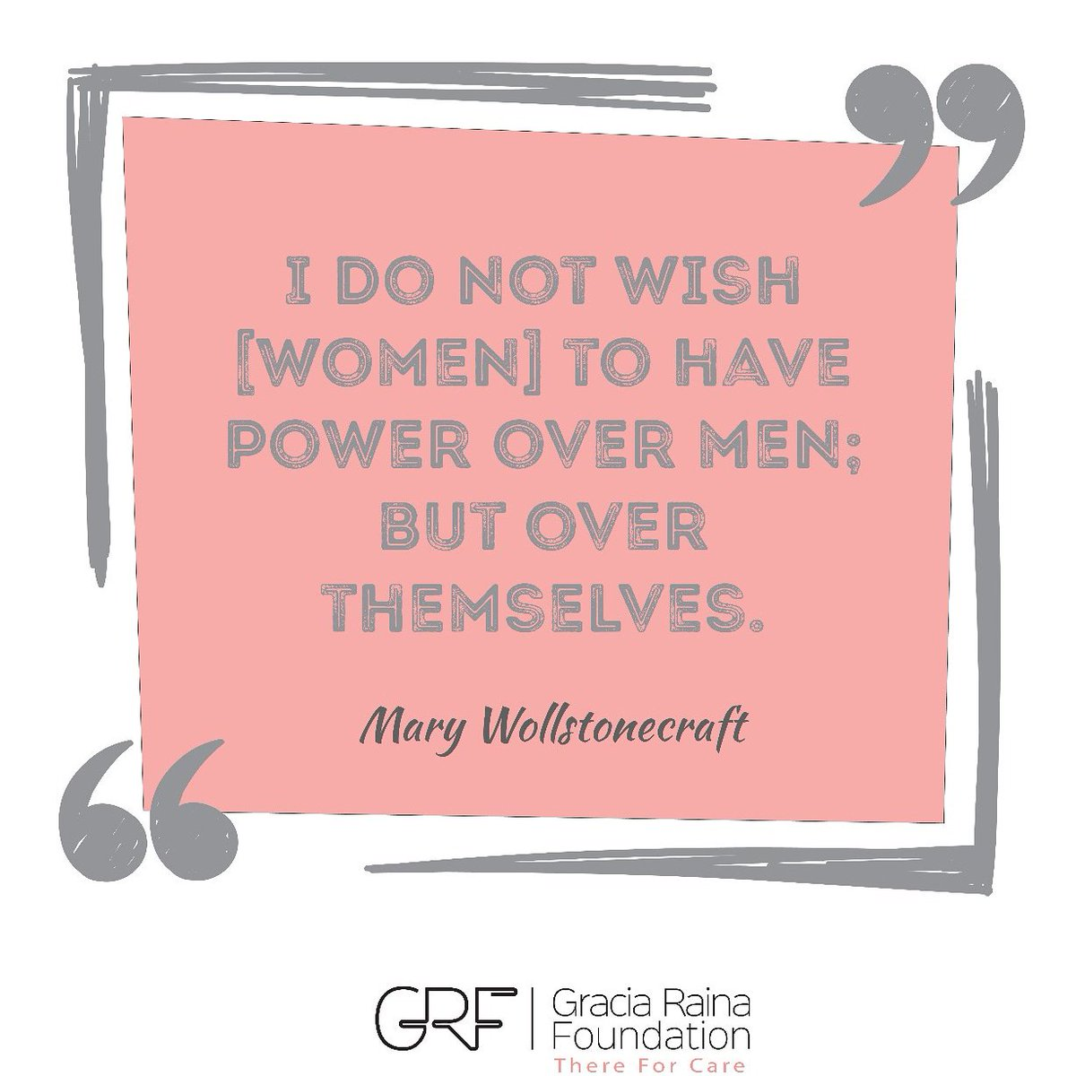 Women in power over themselves and decision-making can make a difference that benefits whole societies. #WomenPower #selfempowerment #grf #Thereforcare