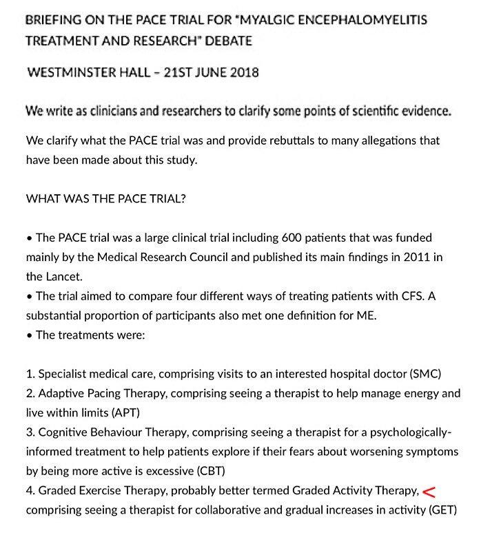 Cfs clinical trials 2018