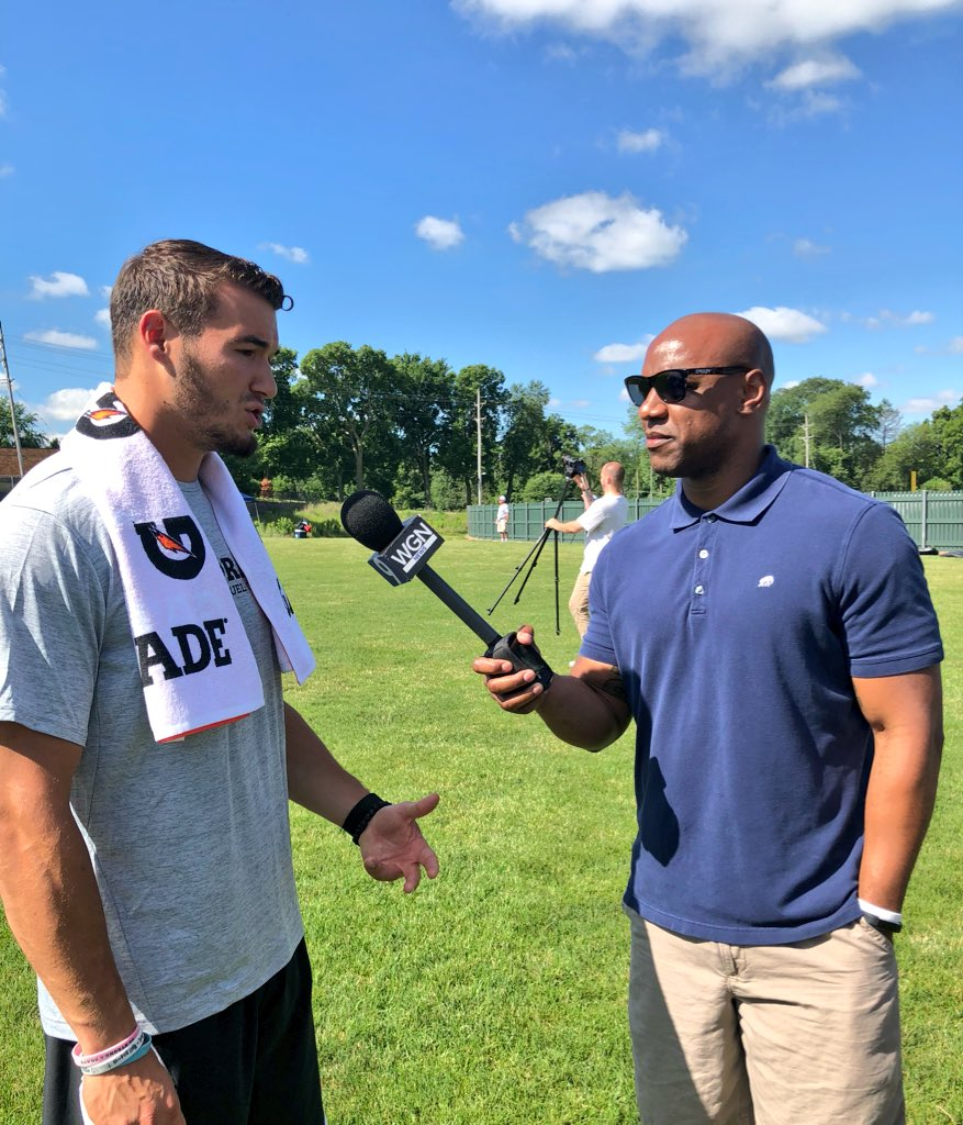 One-on-one w/ Tru. #Bears @Mtrubisky10