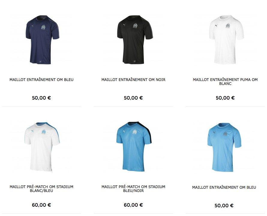 maillot entrainement Olympique de Marseille Tenue de match