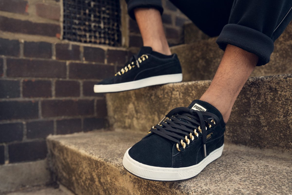 c0b06e70d26 The Suede Classic X-Chain Sneakers are a blinged out update to the iconic  Classic  Suede shoe. Dropping 06.07.2018.pic.twitter.com 2SApXM2ep2
