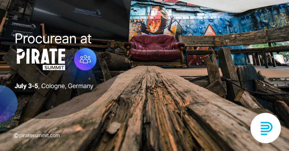 ARRR!☠Tomorrow we sail! To #Germany!🇩🇪 #Procurean was selected as the startup, that will have the chance to pitch and compete at the @PirateSummit #startup competition in the company of startups like SendGrid and SemRUSH. General sponsors of the event are #Facebook and #Google https://t.co/6bkyvtiIVt