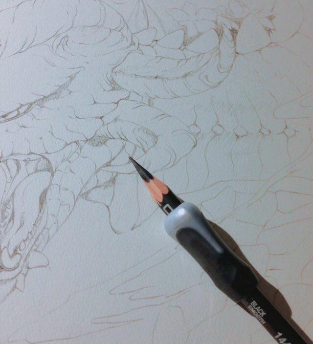 もはや夏の恒例とも言える「幻獣神話展」に今年も参加致します。今回はドラゴン描きました、たぶんちょっと可愛い(と槻城は思ってる)完成画は会場にて。図録入稿で一息なのでご案内の第一報。