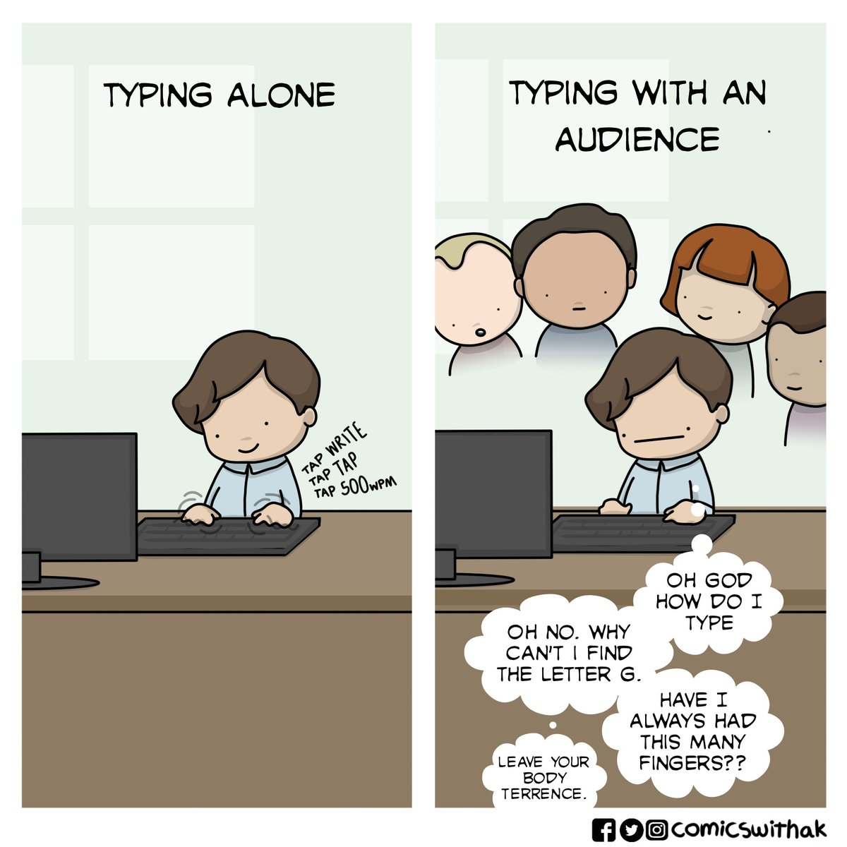 Comicswithak On Twitter Performance Anxiety Webcomics Comics