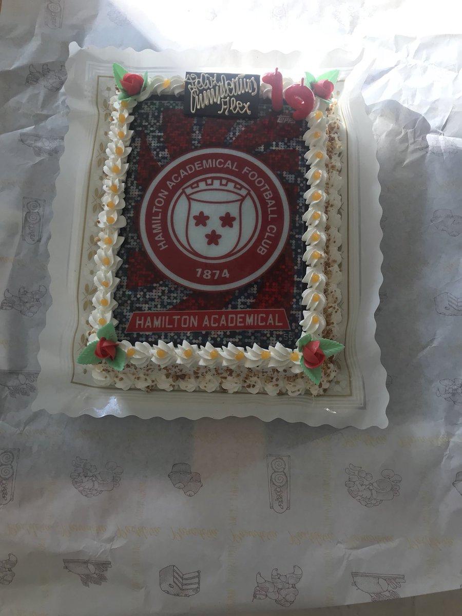 Hamilton Accies Fc On Twitter Birthday Cake For Alexgaarciiaa