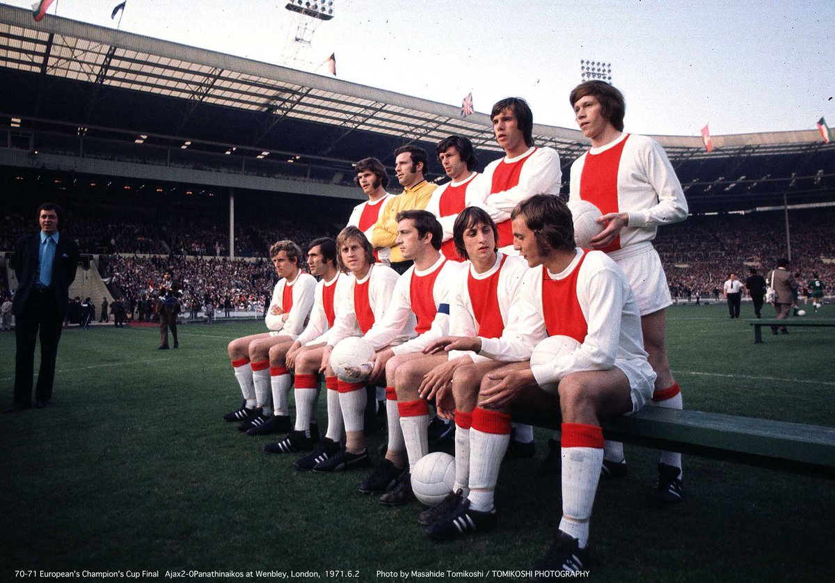 "OldFootballPhotos on Twitter: ""#Ajax with #JohanCruyff, before the ..."