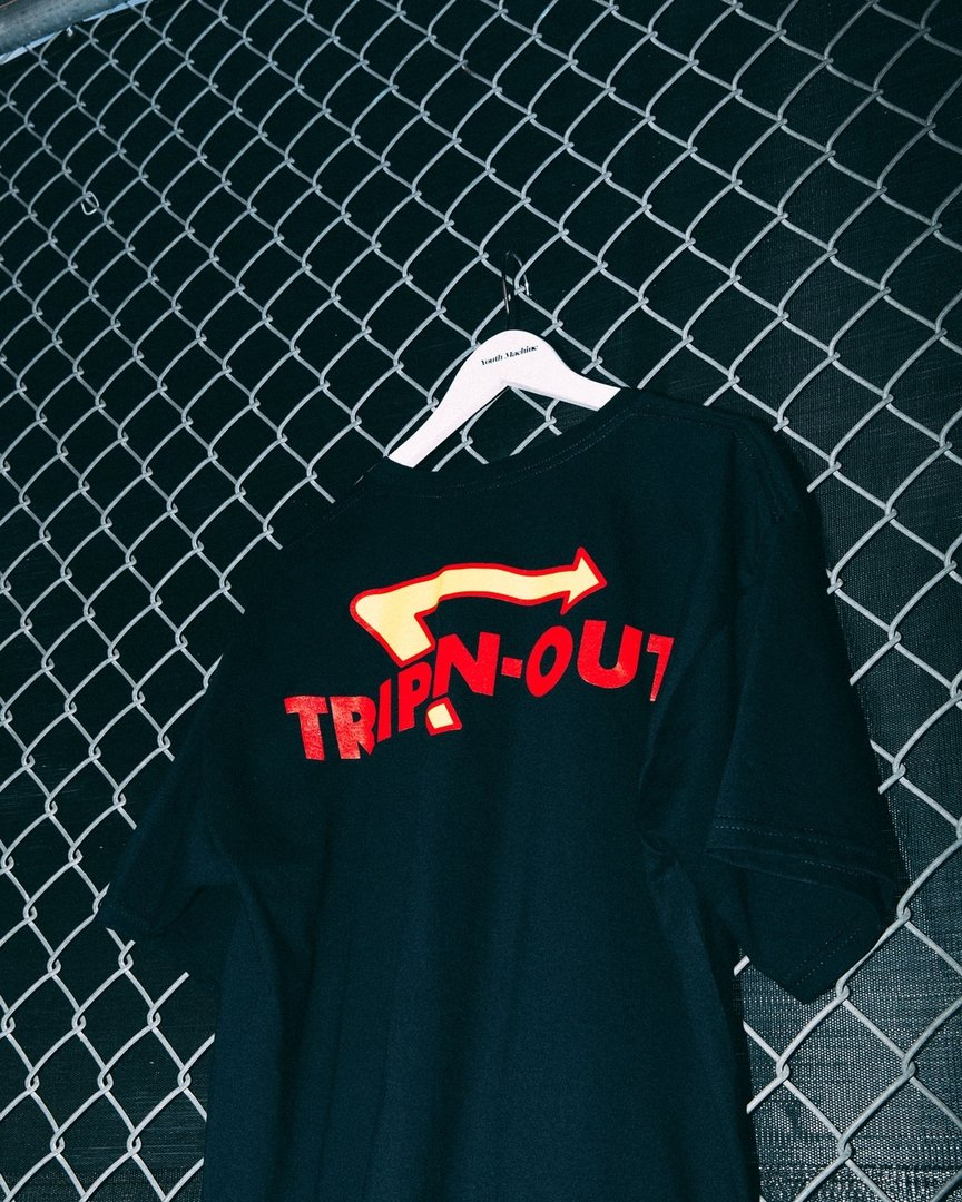 Our latest collab with @pintrill is now live. Grab the tee on youthmachine.com and the pin on pintrill.com while supplies last.